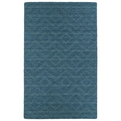 Dobson Tufted Turquoise Geometric Area Rug Rug Size: 36 x 56