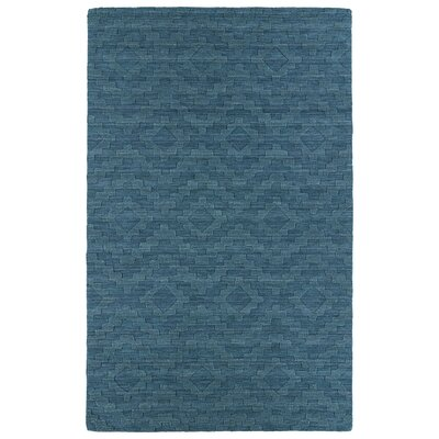 Dobson Tufted Turquoise Geometric Area Rug Rug Size: 96 x 136