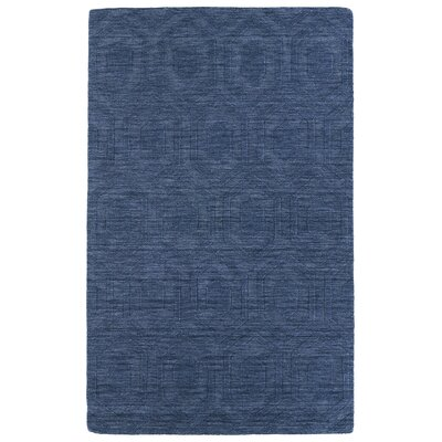 Dobson Hand-Tufted Blue Area Rug Rug Size: 5 x 8