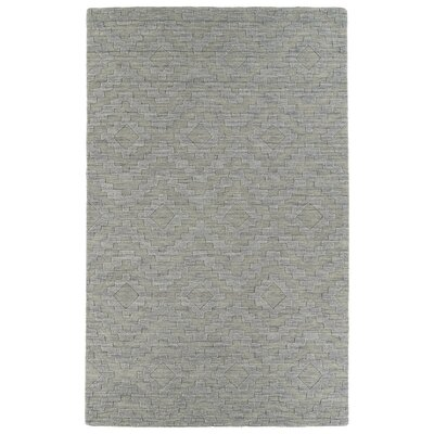 Dobson Hand-Tufted Gray Wool Area Rug Rug Size: 36 x 56