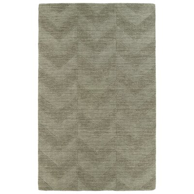 Dobson Light Brown Wool Geometric Area Rug Rug Size: 5 x 8