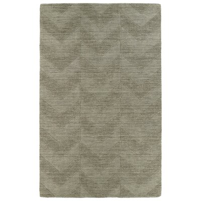 Dobson Light Brown Wool Geometric Area Rug Rug Size: 36 x 56