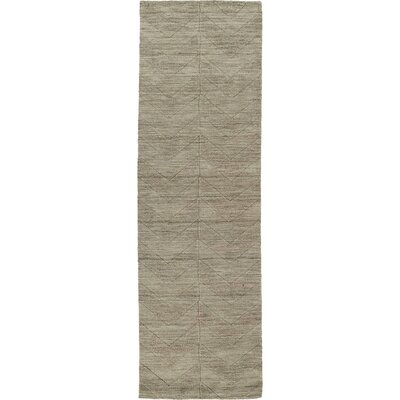 Xavier Light Brown Geometric Area Rug Rug Size: Runner 26 x 8