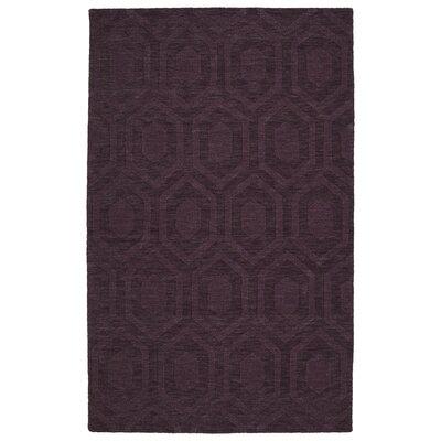 Dobson Handmade Purple Area Rug Rug Size: 3'6