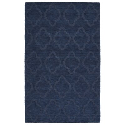 Dobson Handmade Navy Geometric Area Rug Rug Size: Rectangle 5 x 8