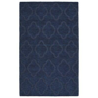Dobson Handmade Navy Geometric Area Rug Rug Size: 8 x 11
