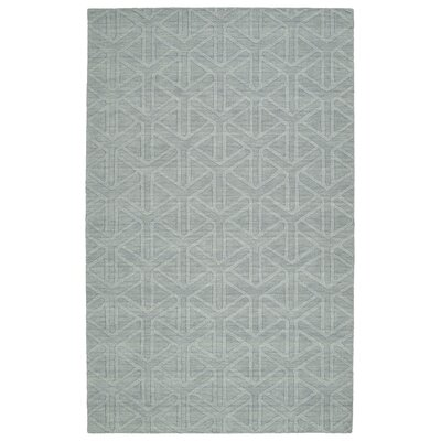 Dobson Handmade Light Blue Area Rug Rug Size: Rectangle 36 x 56