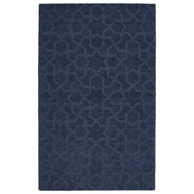 Xavier Handmade Navy Area Rug Rug Size: 5 x 8