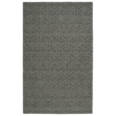 Xavier Handmade Charcoal Area Rug Rug Size: 2 x 3