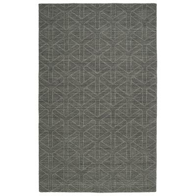 Dobson Handmade Charcoal Area Rug Rug Size: 8 x 11