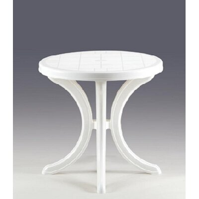 Elsah Bistro Table Top Finish: White Polypropylene
