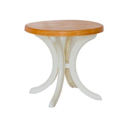 Elsah Bistro Table Top Finish: Brown Wood