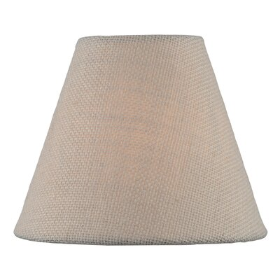 Coolie 6 Fabric Empire Lamp Shade Color: Brown
