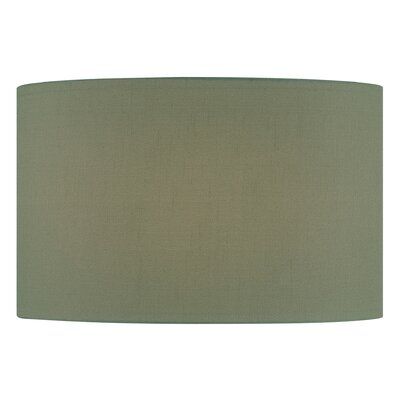 18 Fabric Drum Lamp Shade Color: Green
