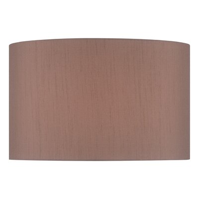 18 Fabric Drum Lamp Shade Color: Brown