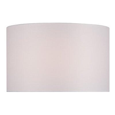 18 Fabric Drum Lamp Shade Color: Bright White