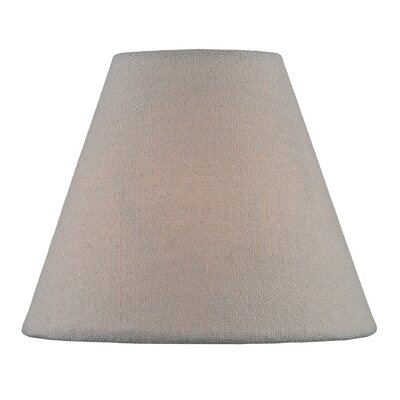 6 Fabric Empire Lamp Shade Color: Brown
