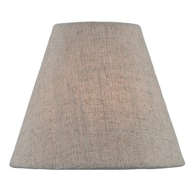 6 Fabric Empire Lamp Shade Color: Beige