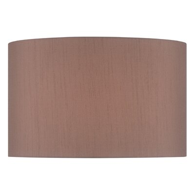 16 Solid Fabric Drum Lamp Shade Color: Beige