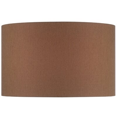 16 Solid Fabric Drum Lamp Shade Color: Brown