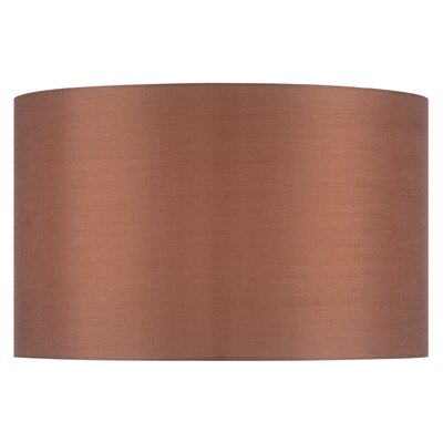 16 Solid Fabric Drum Lamp Shade Color: Gold