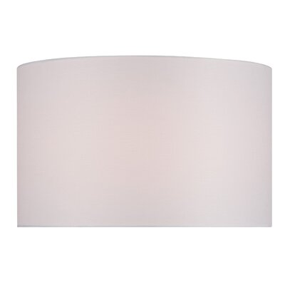 16 Solid Fabric Drum Lamp Shade Color: Bright White