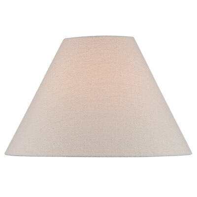 18 Fabric Empire Lamp Shade Color: Beige