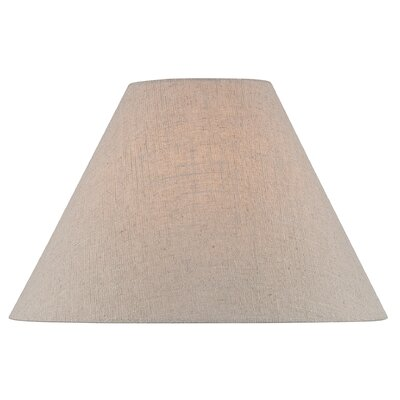 18 Modern Fabric Empire Lamp Shade Color: Brown