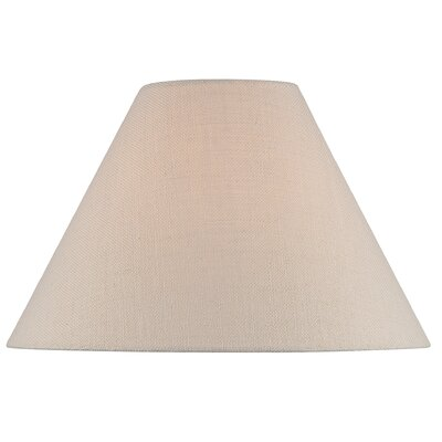 18 Fabric Empire Lamp Shade Color: Brown