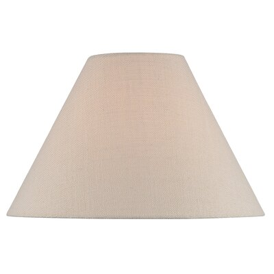 16 Fabric Empire Lamp Shade Color: Beige