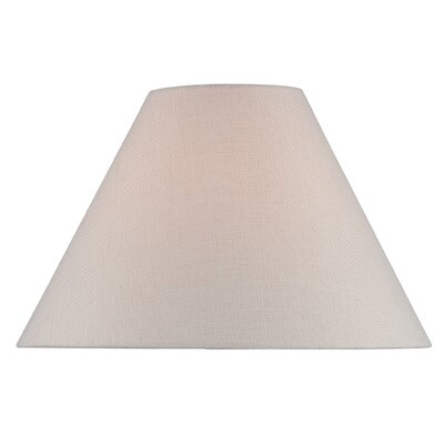 16 Fabric Empire Lamp Shade Color: Brown