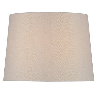 16 Fabric Drum Lamp Shade Color: Beige