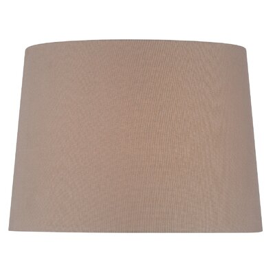 16 Fabric Drum Lamp Shade Color: Brown