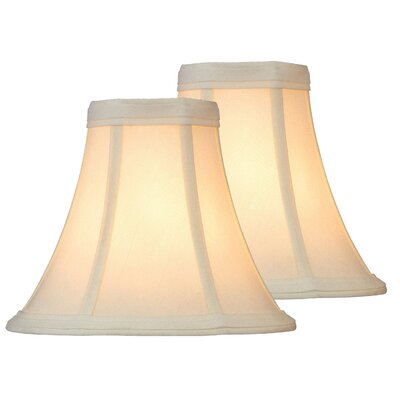 6 Fabric Bell Lamp Shade Color: Brown