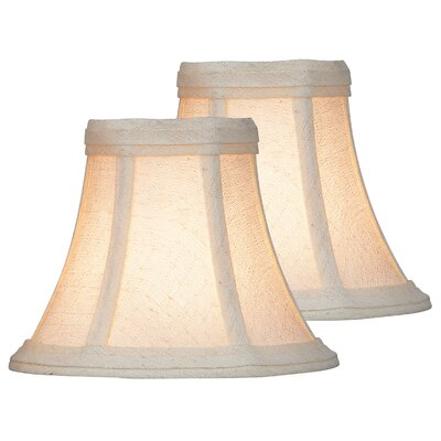 6 Fabric Bell Lamp Shade Color: Beige