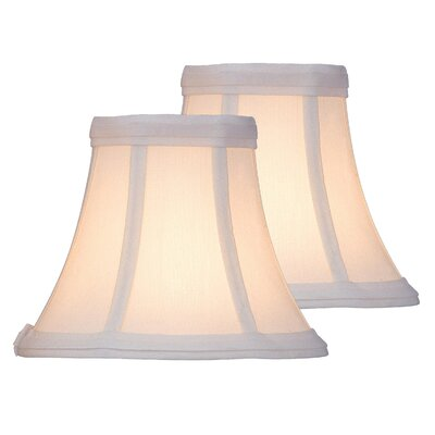6 Fabric Bell Lamp Shade Color: White