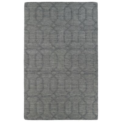 Dobson Hand-Tufted Gray Area Rug Rug Size: Rectangle 36 x 56