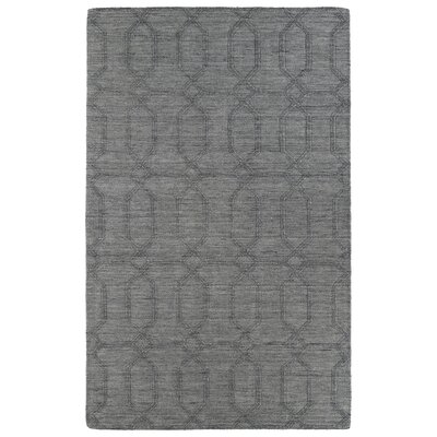 Dobson Hand-Tufted Gray Area Rug Rug Size: 36 x 56