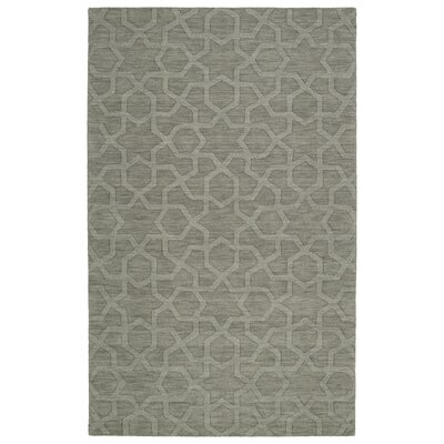Dobson Handmade Gray Area Rug Rug Size: Rectangle 5 x 8