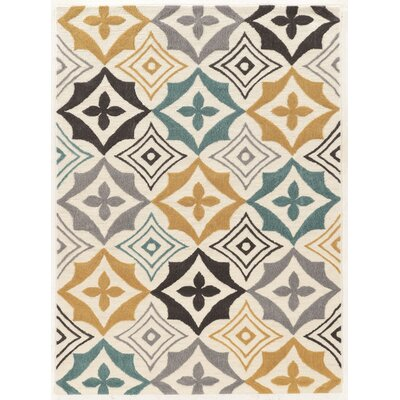 Cozine Geometric Hand-Tufted Area Rug Rug Size: Rectangle 5 x 7