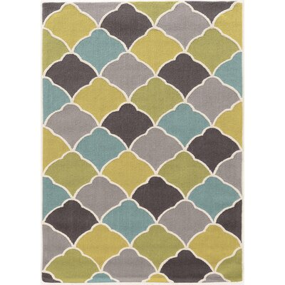 Beaded Hand-Tufted Area Rug Rug Size: Rectangle 110 x 210