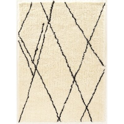 Minerva Hand-Tufted Ivory/Black Area Rug Rug Size: Rectangle 2 x 3