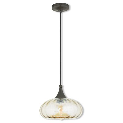 Limewood 1-Light Elliptical Shade Mini Pendant