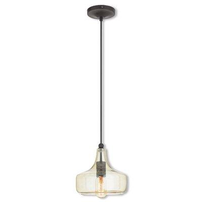 Limewood 1-Light Oval Shade Mini Pendant