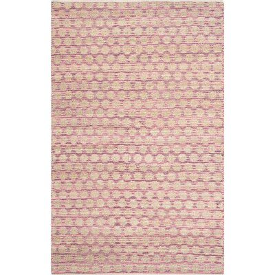 Arverne Maroon/Natural Area Rug Rug Size: Rectangle 5 x 8
