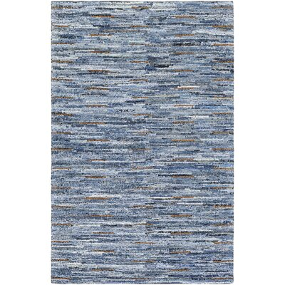 Desroches Hand-Crafted Cotton Denim Area Rug Rug Size: Rectangle 5' x 7'6