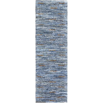 Desroches Hand-Crafted Cotton Denim Area Rug Rug Size: Runner 26 x 8