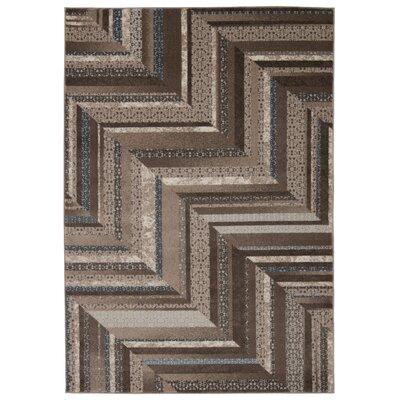 Wendolyn Geometric Mocha Rug Rug Size: 710 x 106