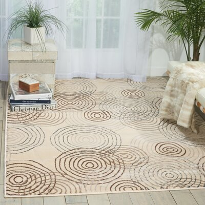 Densmore Geometric Ivory Area Rug Rug Size: Rectangle 311 x 53