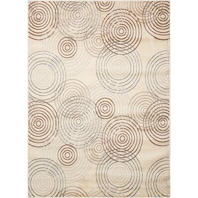 Densmore Geometric Ivory Area Rug Rug Size: 311 x 53